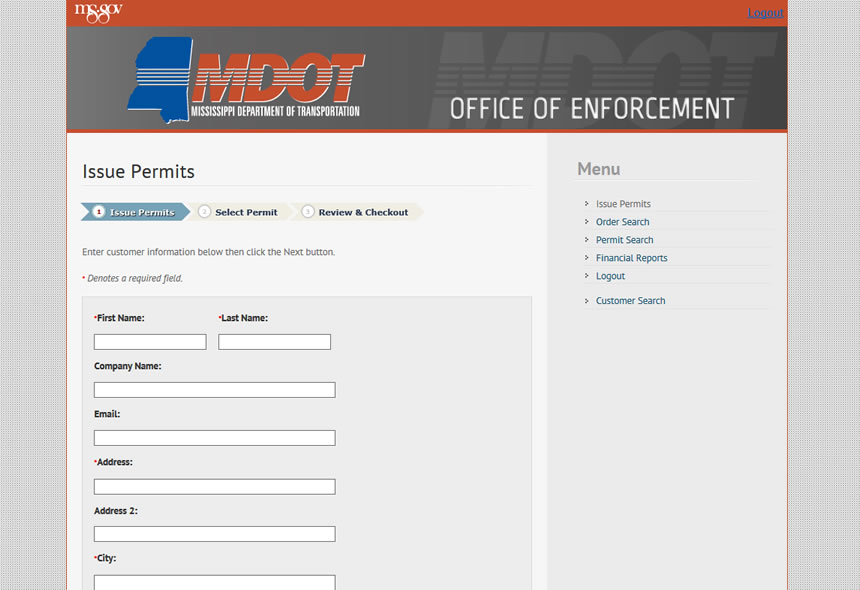 MDOT Payment Portal