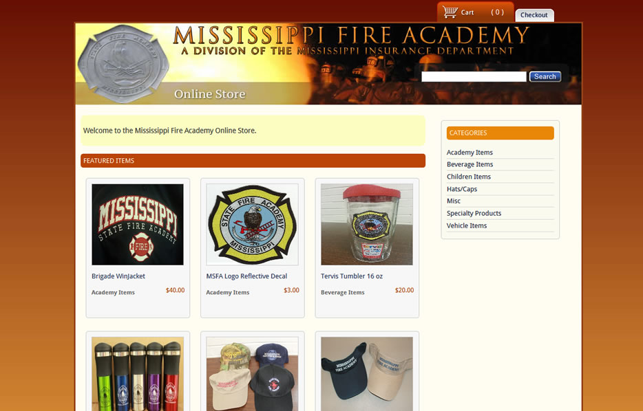 Mississippi Fire Academy Shopping Cart